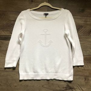 Talbots | Anchor Embroidered Sweater